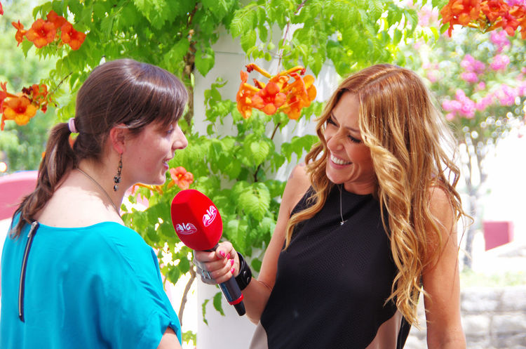 on show in direct on June 15, 2014 in Reguengos de Monsaraz, Portugal. Emotion Face To Face Flower Flowering Plant Hairstyle Happiness Positive Emotion Smiling Two People Women Young Adult Young Women