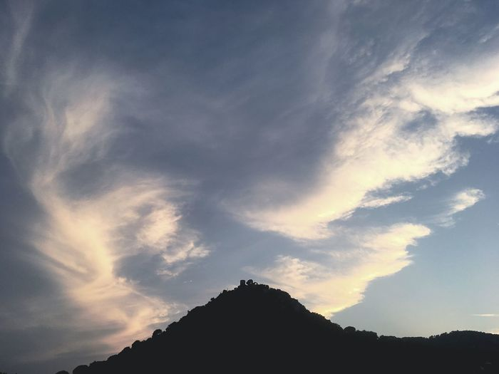 Sky Silhouette Nature Beauty In Nature Low Angle View Cloud - Sky Tranquility No People Tranquil Scene Scenics Mountain Outdoors Day