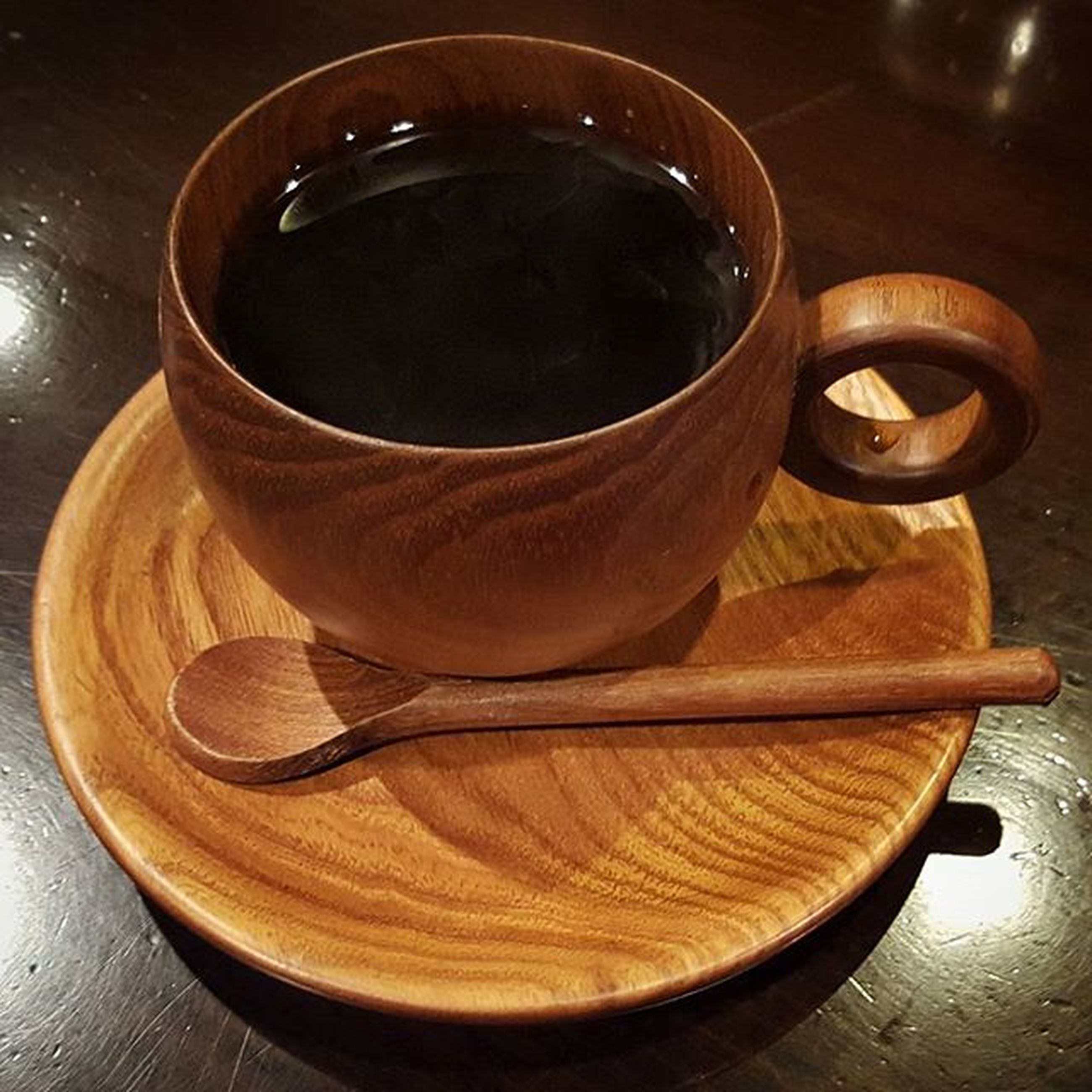 table, indoors, food and drink, still life, coffee cup, drink, wood - material, high angle view, freshness, refreshment, coffee - drink, saucer, close-up, cup, wooden, coffee, no people, spoon, directly above, healthy eating