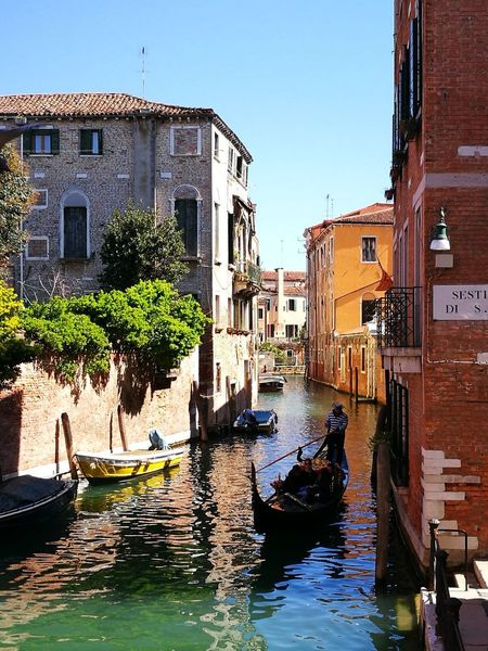 Venezia, Canale Water Building Exterior Architecture Built Structure Nature Nautical Vessel Building Canal City Transportation Sky Mode Of Transportation No People Sunlight Gondola - Traditional Boat Residential District Outdoors Day Travel Destinations