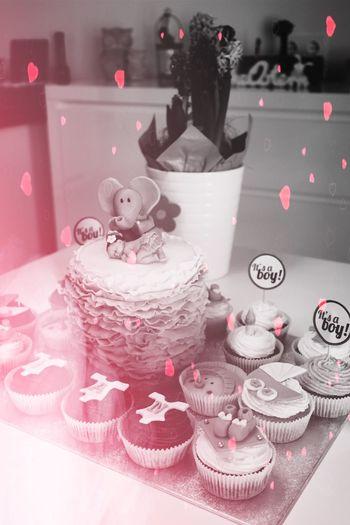 Baby Love Blackandwhite Hearts Sweet Tortenpost Cupcakes Cake