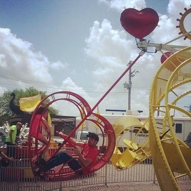 MyLoves Lovebugs Rides Mayfest perryvillemayfest mayfest14 myfiance hisbaby onthisride spins fun carnivalrides