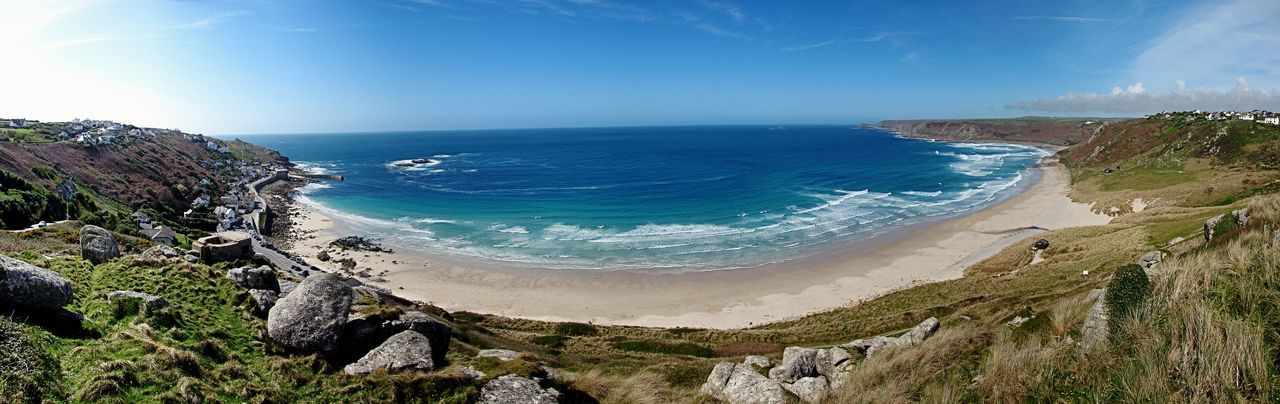 Sennen Cove in Summer . great Surfing ,great Beach , lovely Coastal Walk