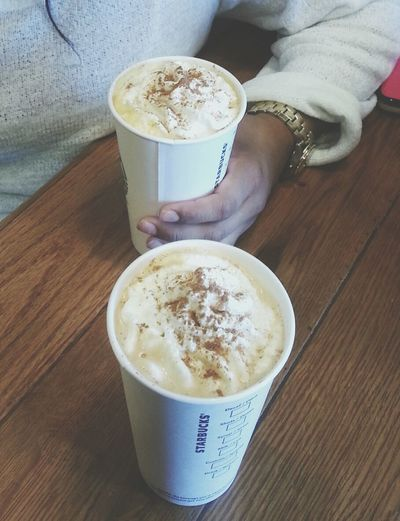 PSL with Little sis. Coffee Psl