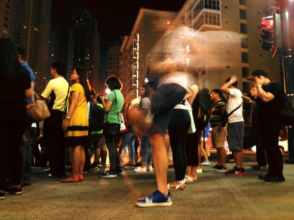 Cities At Night Blurred Motion Long Exposure Mobilephotography Street Ghosting Street Night Eyeem Philippines EyeEm EyeEm Best Shots The Street Photographer - 2016 EyeEm Awards Street Photography