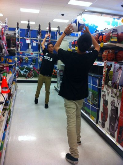 Playing volleyball at Black Friday in target say whaaaaaaaaa? Holla~
