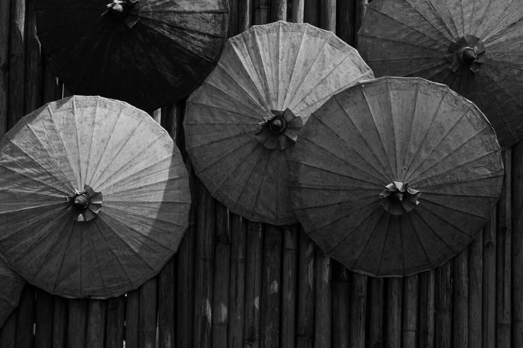 Close-up No People Wood - Material Pattern Full Frame Day Outdoors Protection Umbrella Shape Security High Angle View Still Life Backgrounds Directly Above Design Safety Nature Parasol