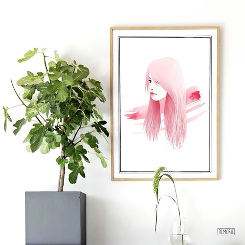 """""""The Lines Between Us"""" - Decor Illustation Adult ınstagram Young Adult Young Women People Beauty Portrait Painting Indoors  Drawing ArtWork Girl Printing Illustration Art Gallery Photoshop Digital Art Artist Drawings Sketch Creativity My Artwork Watercolor White Background"""