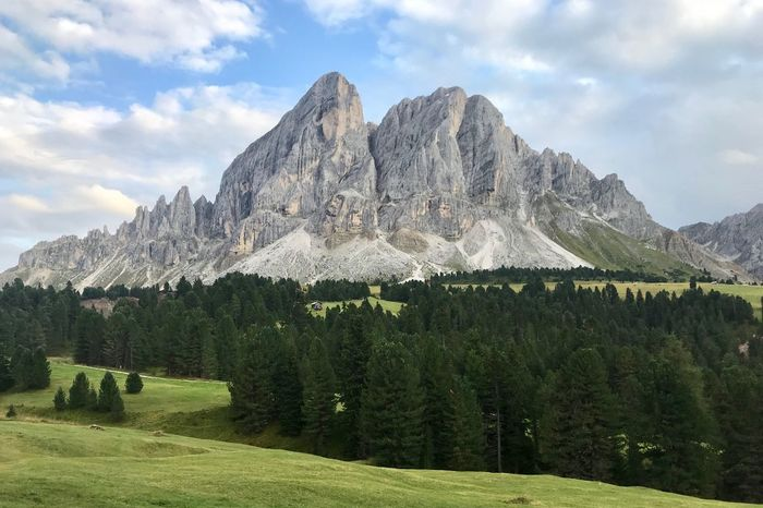 Dolomites, Italy Sky Plant Beauty In Nature Scenics - Nature Cloud - Sky Mountain Tranquil Scene Tranquility Tree Landscape Green Color Environment Nature No People Non-urban Scene Grass Idyllic