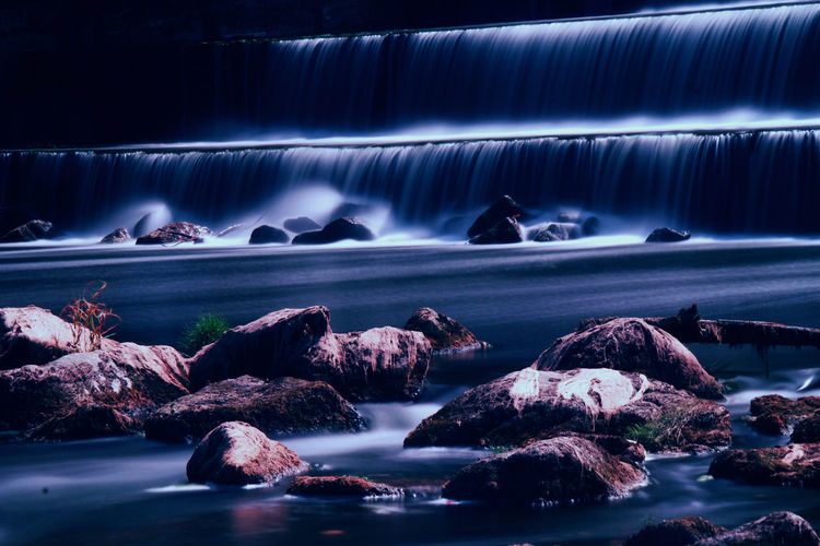 Beauty In Nature Long Exposure Motion Nature Rock Scenics - Nature Water Waterfall