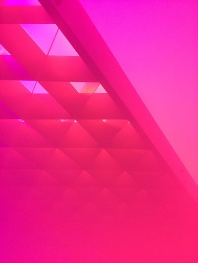 ArtWork Pink Color Backgrounds Pattern No People Full Frame Abstract Modern Creativity Triangle Shape Indoors  Shape Simplicity Geometric Shape Magenta Design Colored Background Abstract Backgrounds Futuristic