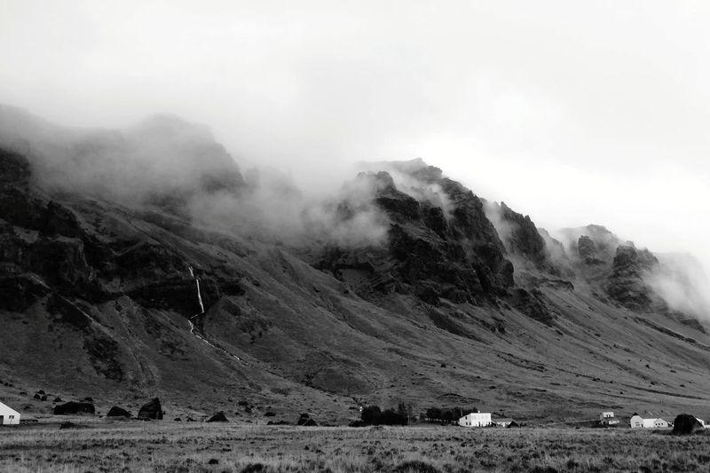 Landscape Iceland Icelandic Landscape Cliffs Mountain Fog Sky Landscape Cloud - Sky Volcanic Landscape