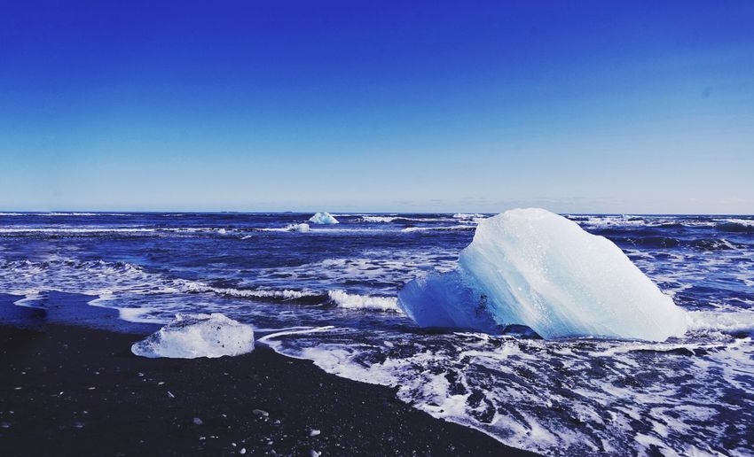 Crystal Ice Black Sand Crystal Ice Iceland Scnery Water Sea Cold Temperature Blue Iceberg - Ice Formation Iceland Ice Wave Frozen Iceberg Arctic Frozen Water First Eyeem Photo
