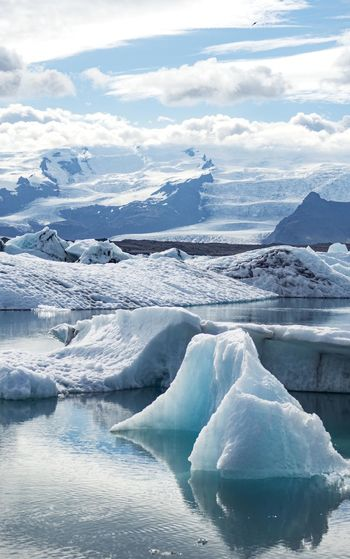 Landscape Outdoors Land Of Fire And Ice Iceland Solitude Tourism Valley Tranquility Nature Remote Non-urban Scene Mountain Tranquil Scene Ice Glacier Lagoon Glacier Lake Iceberg Melting