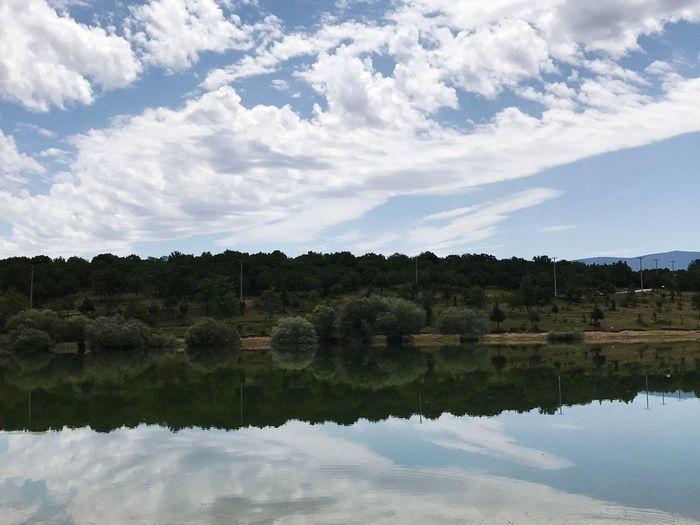 FreshDay #GREENDAY #symetry #Today  #photography #Lake #Nature  Turkey #picoftheday #nikon #photograpie Vscoday VSCO Picsoftheday Water Tree Lake Mountain Reflecting Pool Symmetry Reflection Sky Landscape Cloud - Sky Reflection Lake Flood Alicante Pine Woodland Calm Rocky Mountains