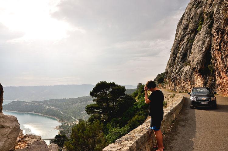 Aix-en-Provence Alpes De Haute Provence Alpine Alpine Road Car Day France Gorge Gorgeous Mountain Nature One Person Outdoors Parc Naturel Regional Du Verdon Provence River Sky Summer Sun Rays Vacations Var Var River Verdon Verdon Gorge Young Adult