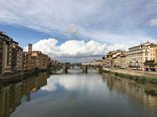 Florence Firenze Ponte Arno  Arno River Clouds Fiume Arno