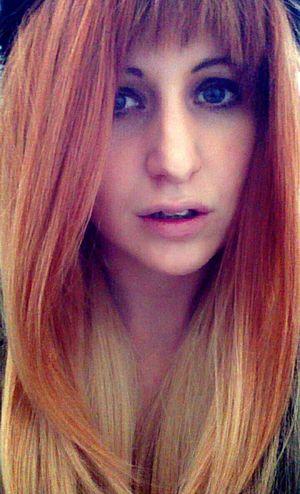 Selfie Blonde Blue Eyes Ginger