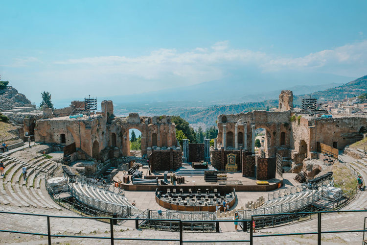 Amfitheater Theater Greek Amphitheater Sicily Taormina Italia Taormina Sicily, Italy Athens The Past Historic Historic Building Archaeology Civilization Ancient History Spiral Staircase Ruined