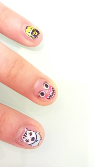 My cute nail~~ Nails Cute Adorable LOL Owo Taking Photos Haha