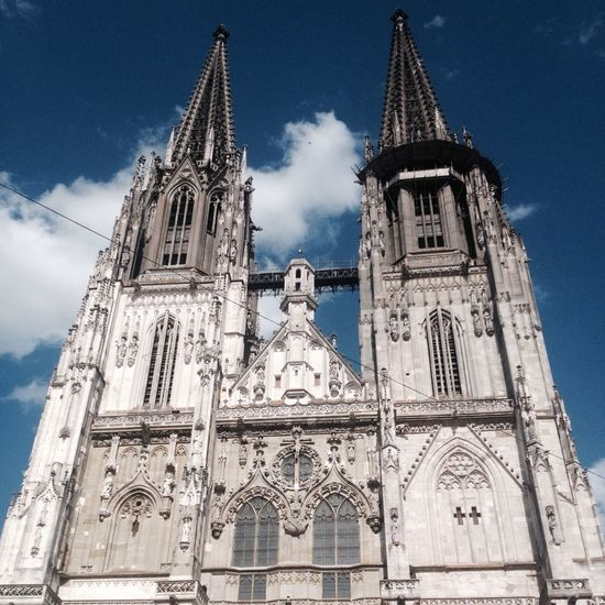Architecture Bayern Germany Blue Sky Cathedral Cathedral Tower Church European Architecture Germany Ratisbona Regensburg Religious Architecture Travel Destinations