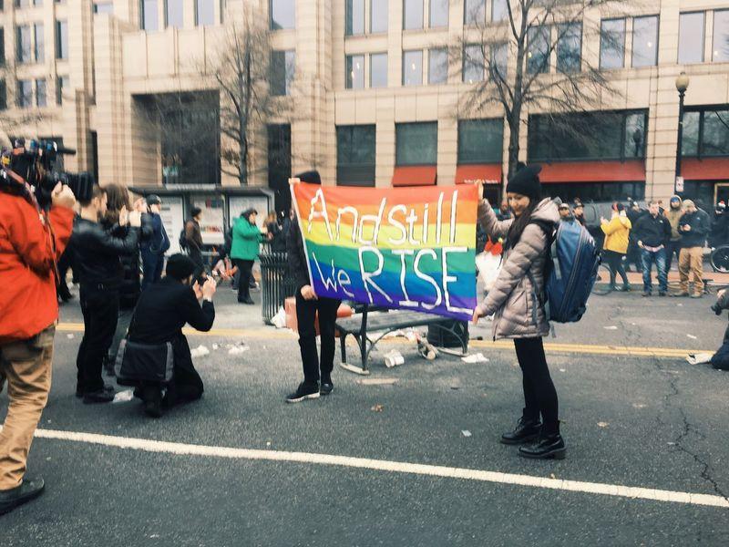The Photojournalist - 2017 EyeEm Awards Protest Inauguration Day Flag