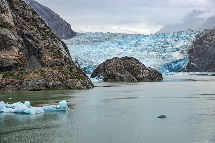 Water Scenics - Nature Beauty In Nature Tranquil Scene Non-urban Scene Sky Nature Sea Day Cold Temperature Ice Melting Glacier Alaska Sawyers Glacier Blue Rock Formation
