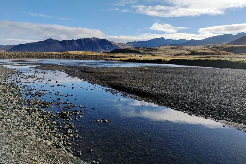 Fall Travel Destinations Travel In Iceland September Iceland Icelandic Landscape Snaefellsnes Peninsula Mountain Water Lake Snow Reflection Sky Landscape Mountain Range Dramatic Landscape Physical Geography