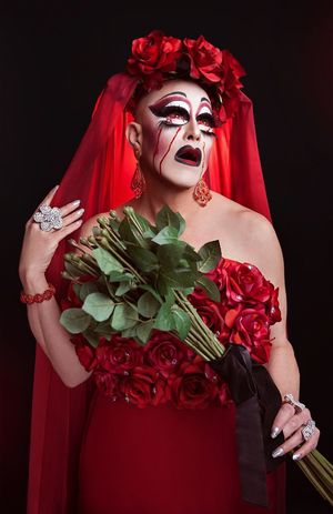 🥀 model/ MUA/ styling: Woowoo Monroe Studio Shot Portrait Women Make-up Beauty Stage Make-up Flower Stage Costume One Person Adult Adults Only Black Background People Drag Queen Roses Red Blood Tears Crying
