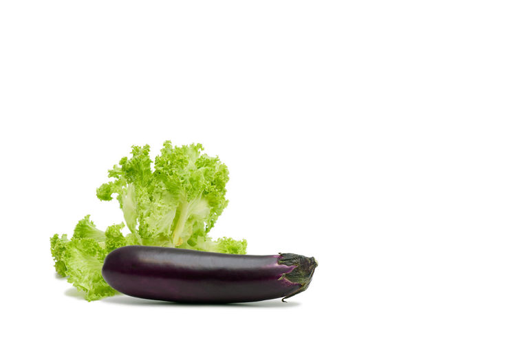 Close-up of vegetable against white background