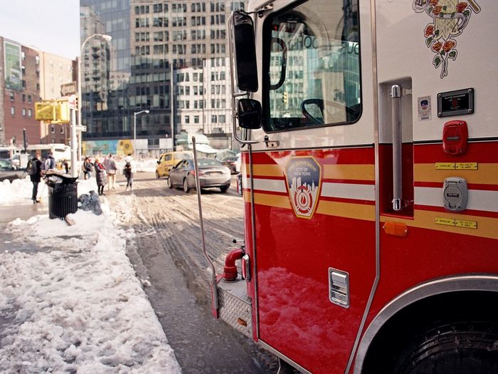 East Village, January 2016 City City Street Snow Firetruck Fdny Astorplace Eastvillage Manhattan Film Photography Ishootfilm Lomography Color Negative 100 35mm Film Elan7 Streetphoto_color Streetphotography Street Photography Shades Of Winter