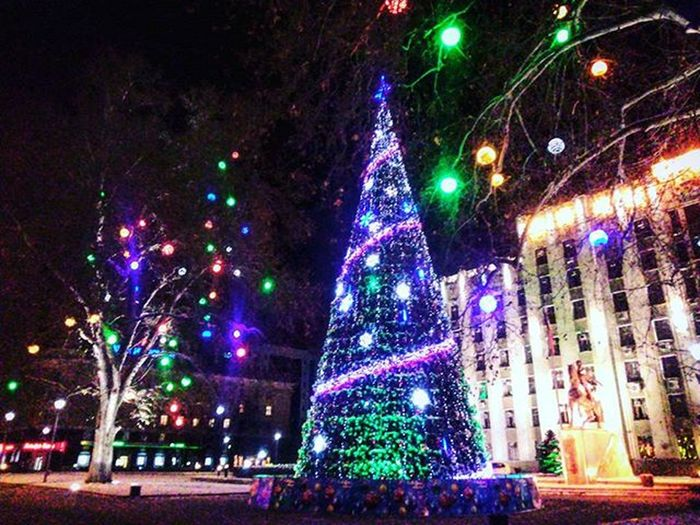Magic ✨ Krd Winter 2016 NewYear Street Colourful Light Trees Beautiful View Holidays City