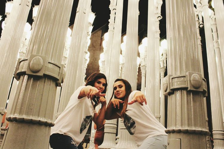 Enjoy The New Normal Follow @_paradiseapparel_ on IG! Paradisebeyondlife Lacma Lights Modern Scenery Illuminated Selective Focus Leisure Activity Motion Streetphotography Travel Destinations Architecture City Life Los Angeles, California Lights Lamppost Outdoors Young Women Togetherness Young Adult Travel Tourist Tourism Personal Perspective Lifestyles