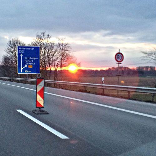 Sundown Highway Taking Photos Hello World