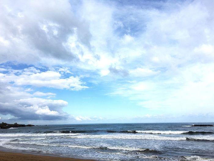 Beach Sky Sky And Clouds Biarritz Grande Plage De Biarritz Morning Basque Basque Country