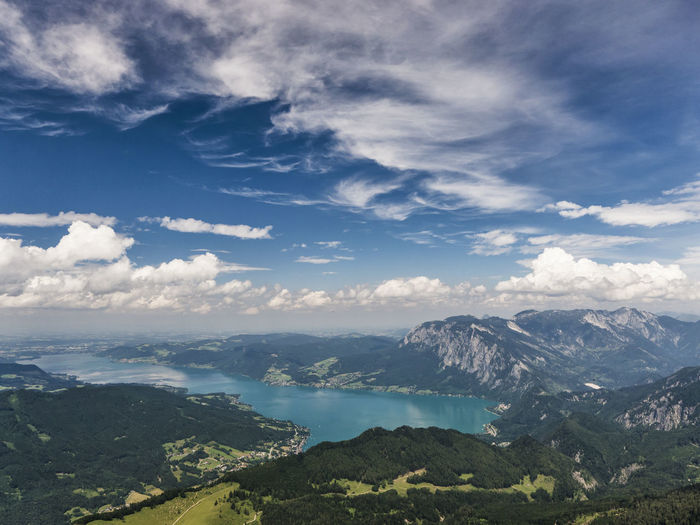Attersee Austria Beauty In Nature Breathtaking Cloud Cloud - Sky Hill Horizon Over Land Lake Landscape Landscape_Collection Majestic Mountain Eyeemphoto Panorama Salzkammergut Scenics Schafberg Sky The Journey Is The Destination Tranquil Scene Tranquility Travel Destinations View Showcase July