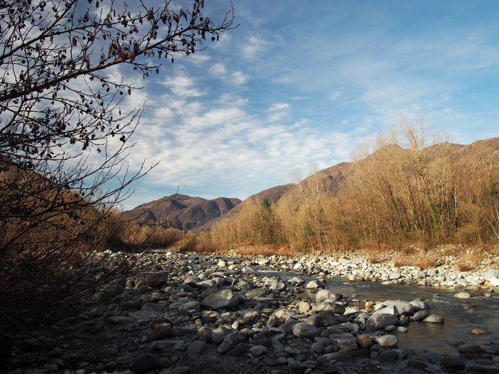 Autumn Beauty In Nature Cloud - Sky Day Mountain Nature No People Outdoors River Scenics Sky Tree