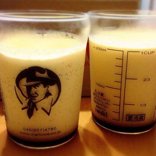 いただきモノの【マーロウ】ビーカープリン🍮カスタードフレッシュクリーム味💛なめらかプリンより、濃厚かためなプリンが好きなのだ🍮💖 マーロウ Marlowe プリン