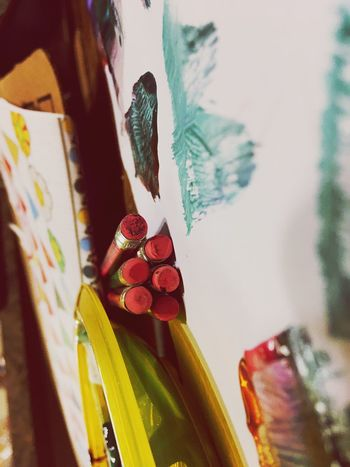 Paints and Pencils Focus On Foreground No People Variation Multi Colored Indoors  Close-up IPhoneography Eye4photography  Day Mobilephotography Fun Leisure Activity Painting Eye4photography  EyeEm Best Shots School Creativity Still Life Eyeemphotography