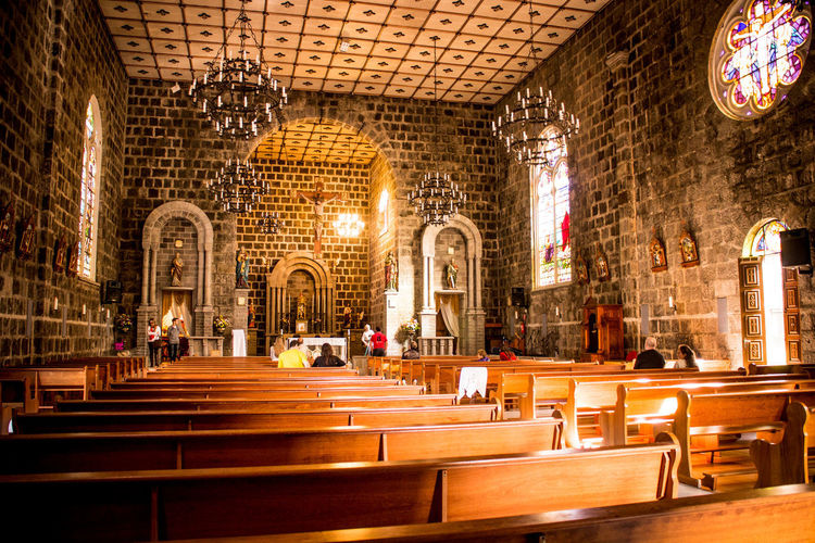 Gramado, Brazil Architecture Chair Day Indoors  No People Pew Place Of Worship Religion Spirituality
