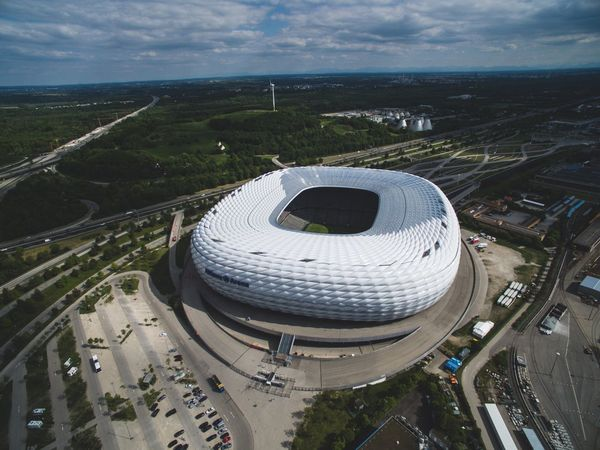 Circle City Aerial View Cloud - Sky Cityscape Architecture High Angle View Road Day Built Structure Travel Destinations Outdoors No People Sky Nature Urban Skyline Soccer Stadium Allianzarena