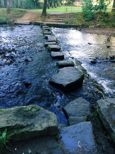 Uppermill Water River Tranquility Stone Steps Bridge Over The River First Eyeem Photo