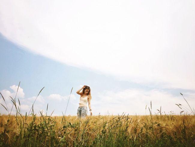 Summer Field Girl Vscocam Nature On Your Doorstep The Portraitist - 2016 EyeEm Awards