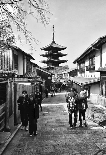 Architecture Real People Built Structure Kyoto Higashiyama Blackandwhite Japan Japan Photography
