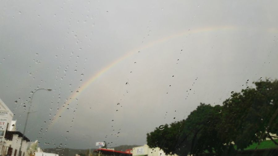 Rainbow Raindropshot Town Square
