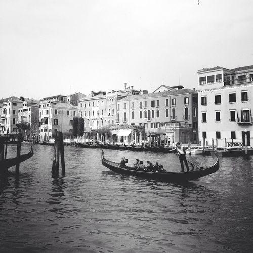 Monochrome Venice Ponte Di Rialto Gondola