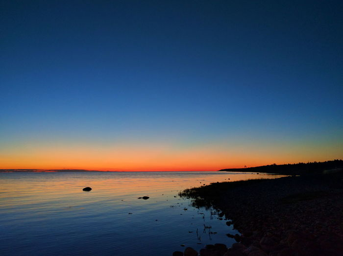 After sunset. Sunset Sea And Sky Gnisvärd Tofta Gotland Sweden Colour Of Life