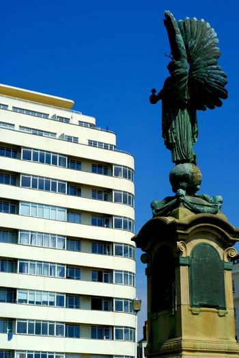 Angel Of Peace Architecture Brighton Brunswick Terrace Building Story Embassy Court Hove King's Road Kingsway Modernism Peace Statue Statue Sussex Coast Wells Coates