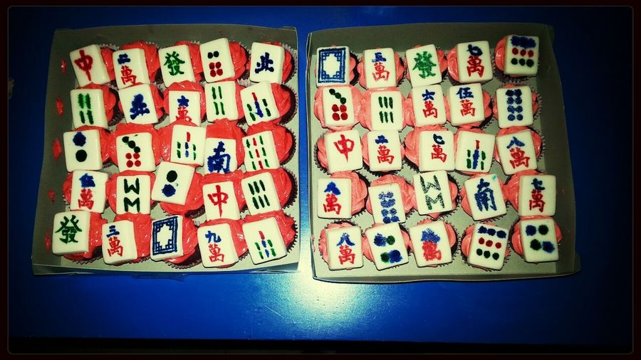 This is how you make Aling Meds happy. MahjongCupcakes
