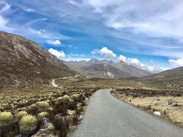 Mountain Sky Scenics Beauty In Nature The Way Forward Day Cloud - Sky Nature Outdoors Landscape Road No People Andes Andes Mountains Andes Landscape